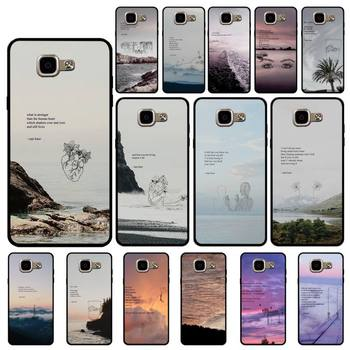 Yinuoda Rupi Kaur Beach Sea Mountain Lines Art Poetry Phone Case for Samsung A6 A8 Plus A7 A9 A20 A20S A30 A30S A40 A50 A70 image
