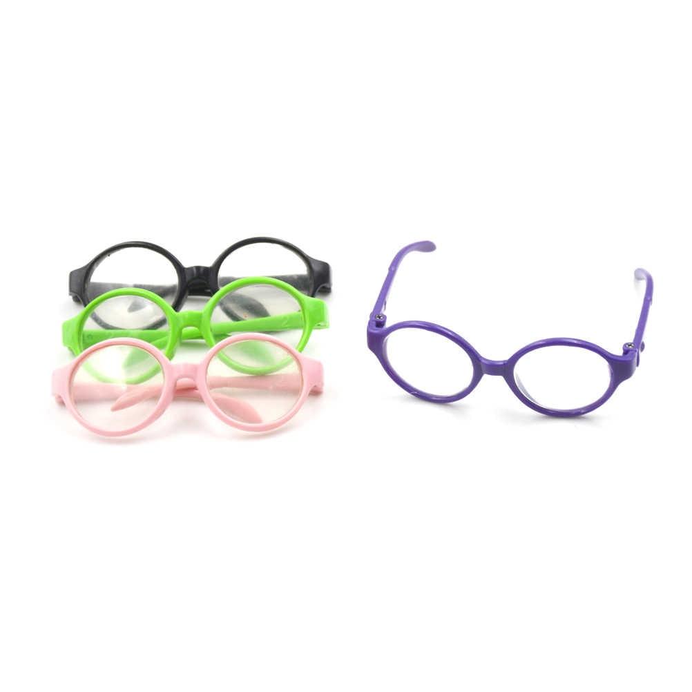 เด็กของเล่นเด็กสไตล์กรอบแว่นตากันแดดพลาสติกสำหรับ 18 นิ้วตุ๊กตารุ่นของเราแว่นตาตุ๊กตาอุปกรณ์เสริม