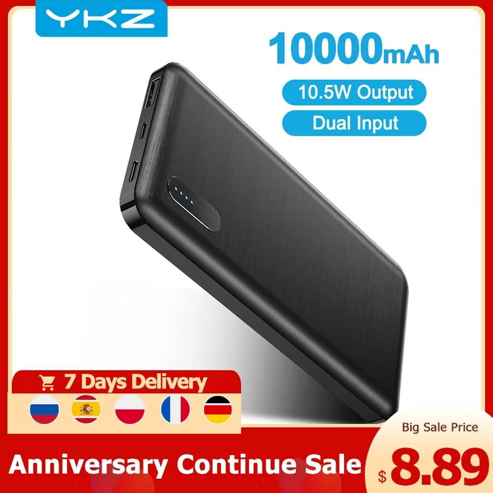 YKZ PowerCore 10000mAh Power bank External Battery Portable Charger Mini Micro USB Type C Powerbank Poverbank PowerCore Phone