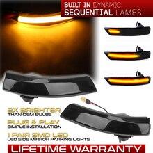 2 قطعة الديناميكي LED بدوره أضواء الإشارة مرآة الرؤية الخلفية المؤشر الوامض مكرر لفورد التركيز 2 Mk2 3 Mk3 مونديو 4 Mk4