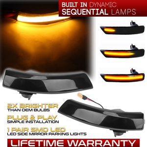 Image 1 - 2Pcs Dynamic LED Turn Signal Lights Rearview Mirror Indicator Blinker Repeater For Ford Focus 2 Mk2 3 Mk3 Mondeo 4 Mk4