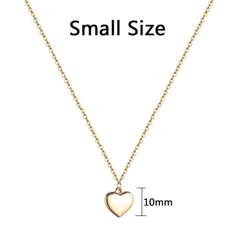 الحب القلب قلادة من الفولاذ المقاوم للصدأ القلائد للنساء الذهب الفضة اللون عيد الحب مجوهرات هدية الإناث 2018