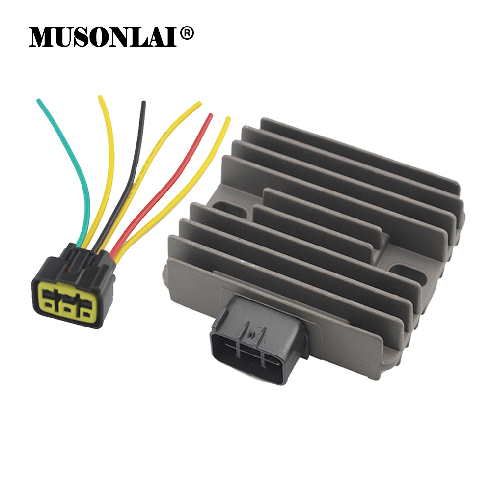 Motorcycle Regulator Rectifier for Yamaha XP500 T-MAX XVS125 DRAGSTAR XVS1100 V-Star YXR660 Rhino <font><b>Kawasaki</b></font> <font><b>VN900</b></font> <font><b>Vulcan</b></font> 900 image