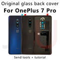 Для OnePlus 7 Pro,100% оригинальный Батарея Стекло задняя крышка Заменить задняя крышка чехол для oneplus 7/7T новый задний Корпус Стекло чехол