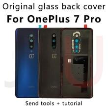 Para oneplus 7 pro, 100% original vidro da bateria de volta capa substituir o caso de volta para oneplus 7pro nova caixa de vidro habitação traseira