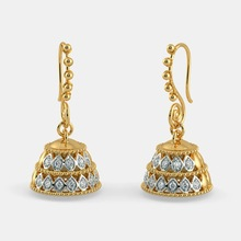 14K Yellow Gold 1 Carat Diamond Earrings for Women Bohemia A