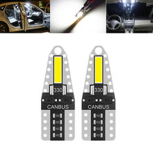 2x t10 w5w светодиодный 7020 2smd 194 501 интерьерная лампа