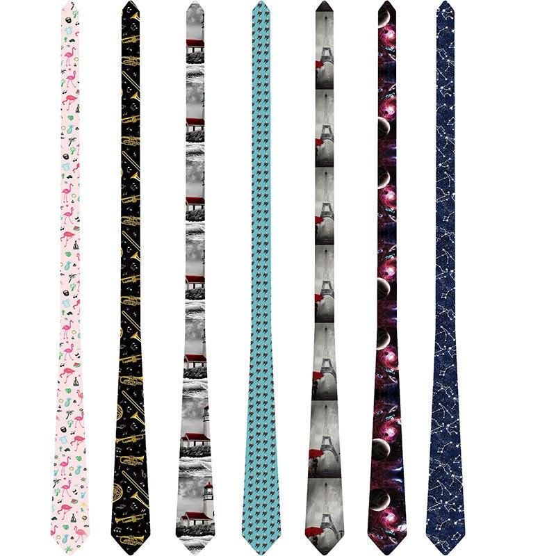 Men Tie 8cm Funny Mens Fashion Harajuku Printed Neckties Gravata Bowtie Man's Wedding Dress Ties Shirt Accessories 8S-LD48