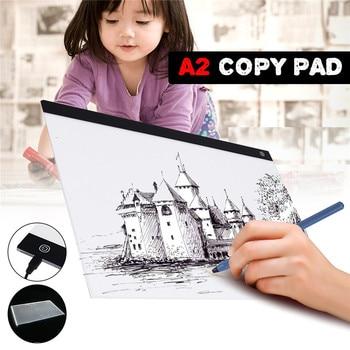 LEORY USB A2 LED Drawing Track Comics Tool Light Box Drawing Board Acrylic Material Tattoo Artist Mold Board Table Copy Pad
