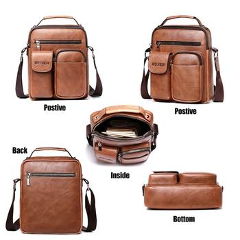 Men Shoulder Bag for 10.5 iPad Large Men Handbag PU Leather Man Shoulder Crossbody Bags Business Travel Man Messenger Bag