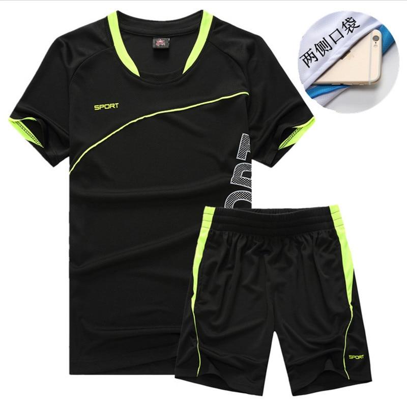 Cross Border For Summer MEN'S Short-sleeved T-shirt Leisure Sports Suit Men's Shorts Quick-Dry Running Workout Clothes Men'S Wea