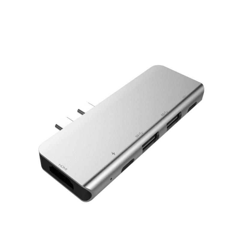 USB-C Hub 4K 60HZ Type C Hub USB Adapter Support 87W Charging For M A C B O O K Pro / TV