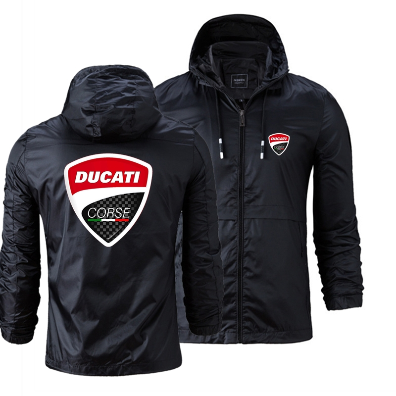 New Brand Hip Hop Male Ducati Car LOGO Europe America Style Hoodies New Zipper Winter Warm Gothic Solid Color Tops Fast Delivery