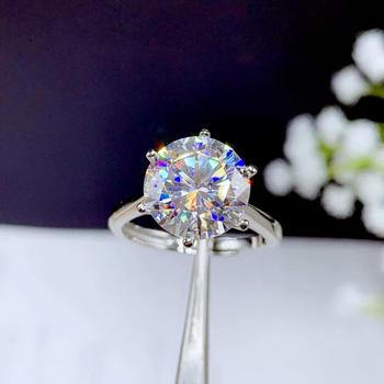 5ct Moissanite ring , 925 Silver fashion design, strong fire color,diamond, high hardness