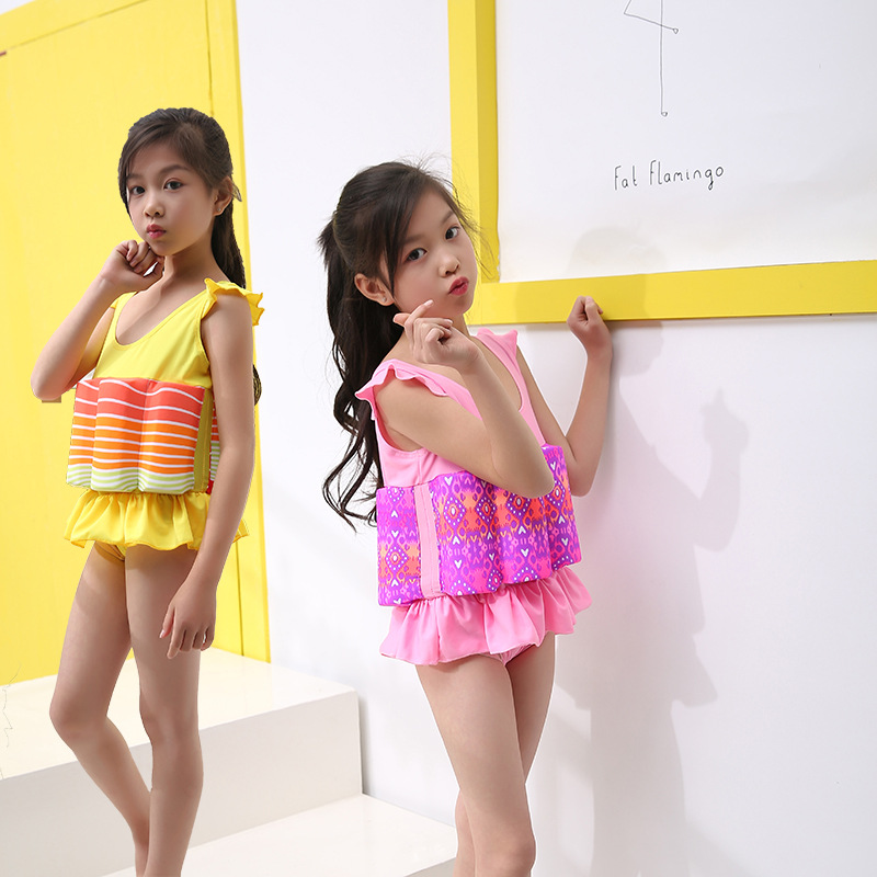 CHILDREN'S Buoyancy Swimsuit 3-6-Year-Old Girls Baby Korean-style Hipster Floating Clothing Infants One-piece Swimsuit For Child