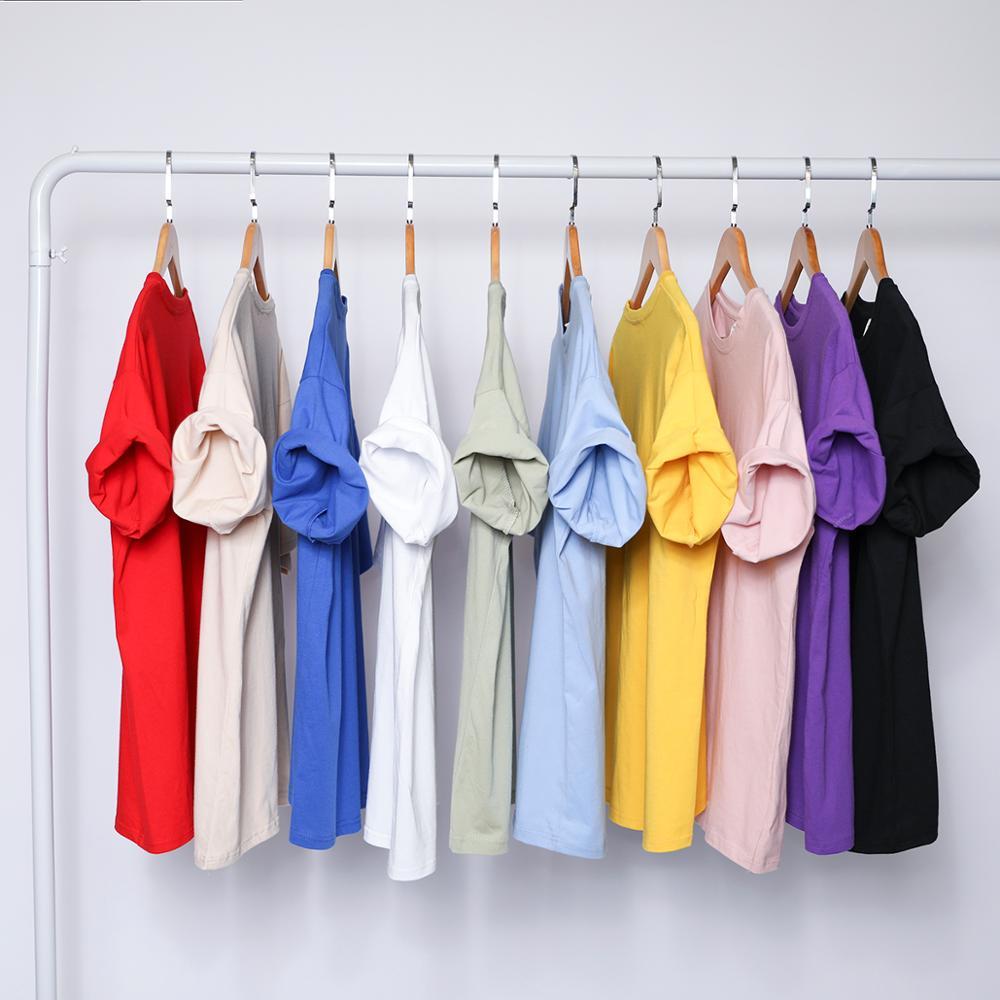 2019 Solid Color  Cotton T Shirt Mens Black White T-shirts 2019 Summer Skateboard Tee Boy Hip Hop Skate Tshirt Tops
