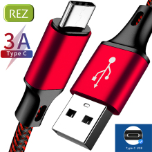 REZ USB Type C Cable to For MacBook Red Fast Charging Type-C kabel Usb Data Wire Redmi USB-C провод кабель
