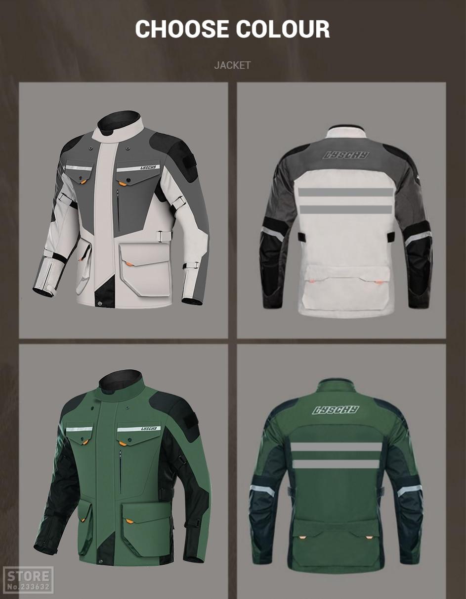 dos homens moto motocross jaqueta de equitação