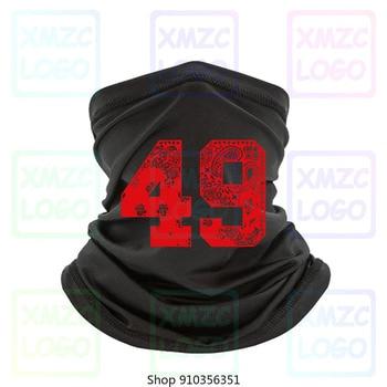 Bandana roja impresa 49 Frisco Cali oro sangre Niner Gang Bandana Jersey Bandana diadema pañuelo calentador de cuello mujeres hombres