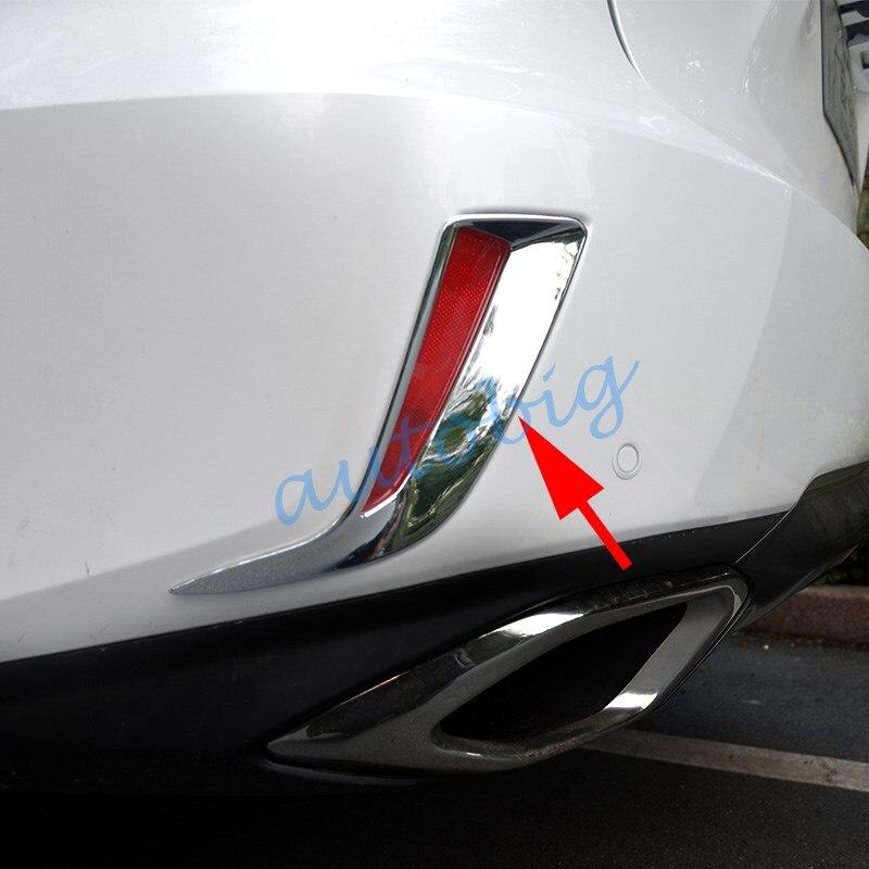Chrome Rear Fog Light Cover Trim for 2016-2017 Lexus RX270 RX450h 450H RX350
