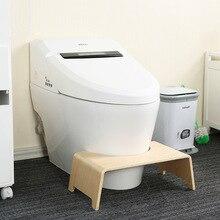 цена на Solid wood toilet stool children elderly pregnant women toilet foot stool