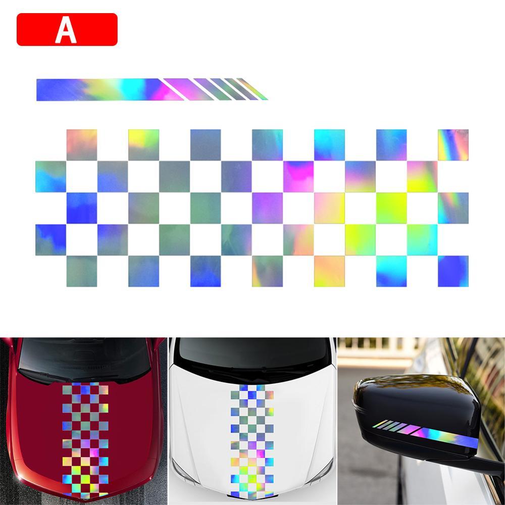 Satılık güçlü görsel etkisi araba kaput şerit grafik çıkartması vinil vücut yarış dikiz aynası Sticker toptan hızlı teslimat