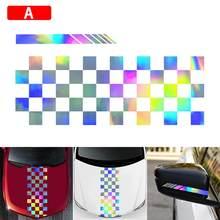 Wyprzedaż silny efekt wizualny maska samochodu pasek naklejki z obrazkiem nadwozie winylowe wyścigi naklejka na lusterko boczne hurtownia szybka dostawa