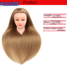 Get more info on the MISSQUEEN Training Head Hairdressers 60cm Hair Synthetic Mannequin Head Hairstyles Female Mannequin Hairdressing Styling