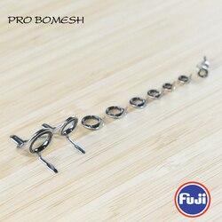 Fuji 1.9G Torzite Guida E Top 9 Pcs T-KWTG T-KTTG T-KGTT Casting Rod Set di Costruzione di Componenti di Riparazione Canna da Pesca accessori Fai da Te