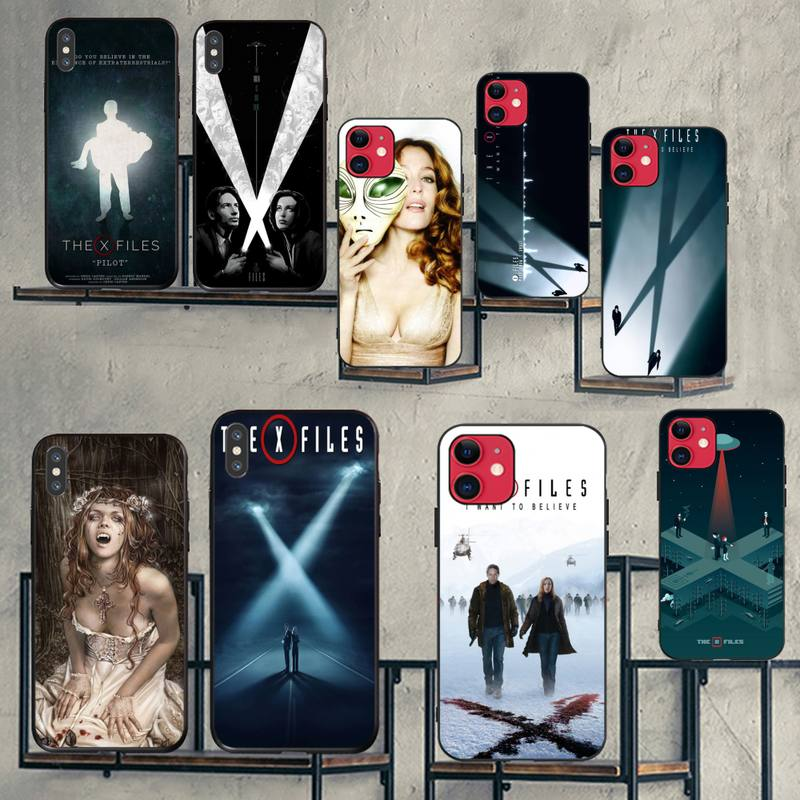 NBDRUICAI The X Files I Want to Believe Buy Bling Cute Phone Case for iPhone 11 pro XS MAX 8 7 6 6S Plus X 5S SE XR case image