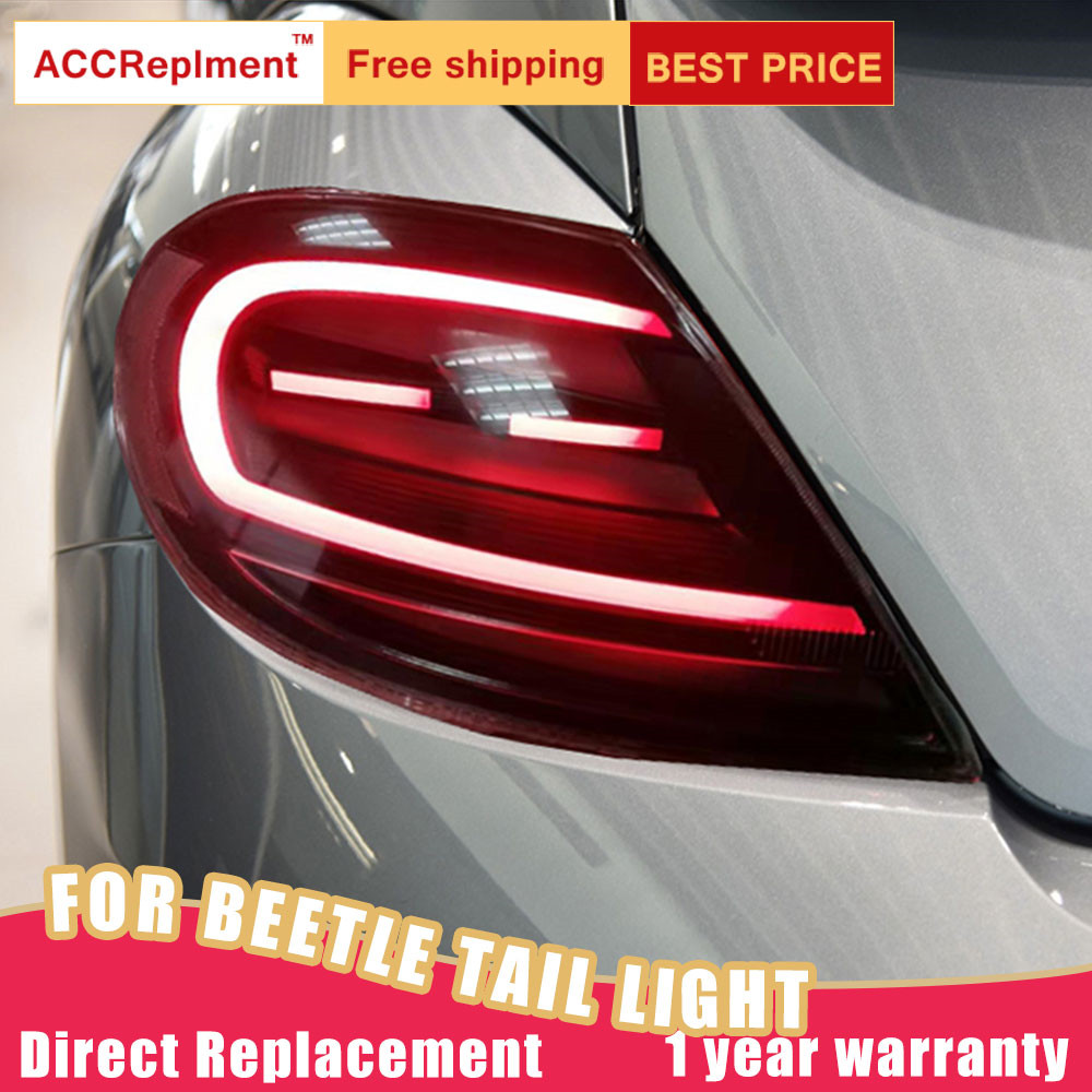 New LED Taillights Assembly For Volkswagen Beetle 12-19 LED Rear Lamp Brake Reverse Light Rear Back Up Lamp DRL Car Tail Lights
