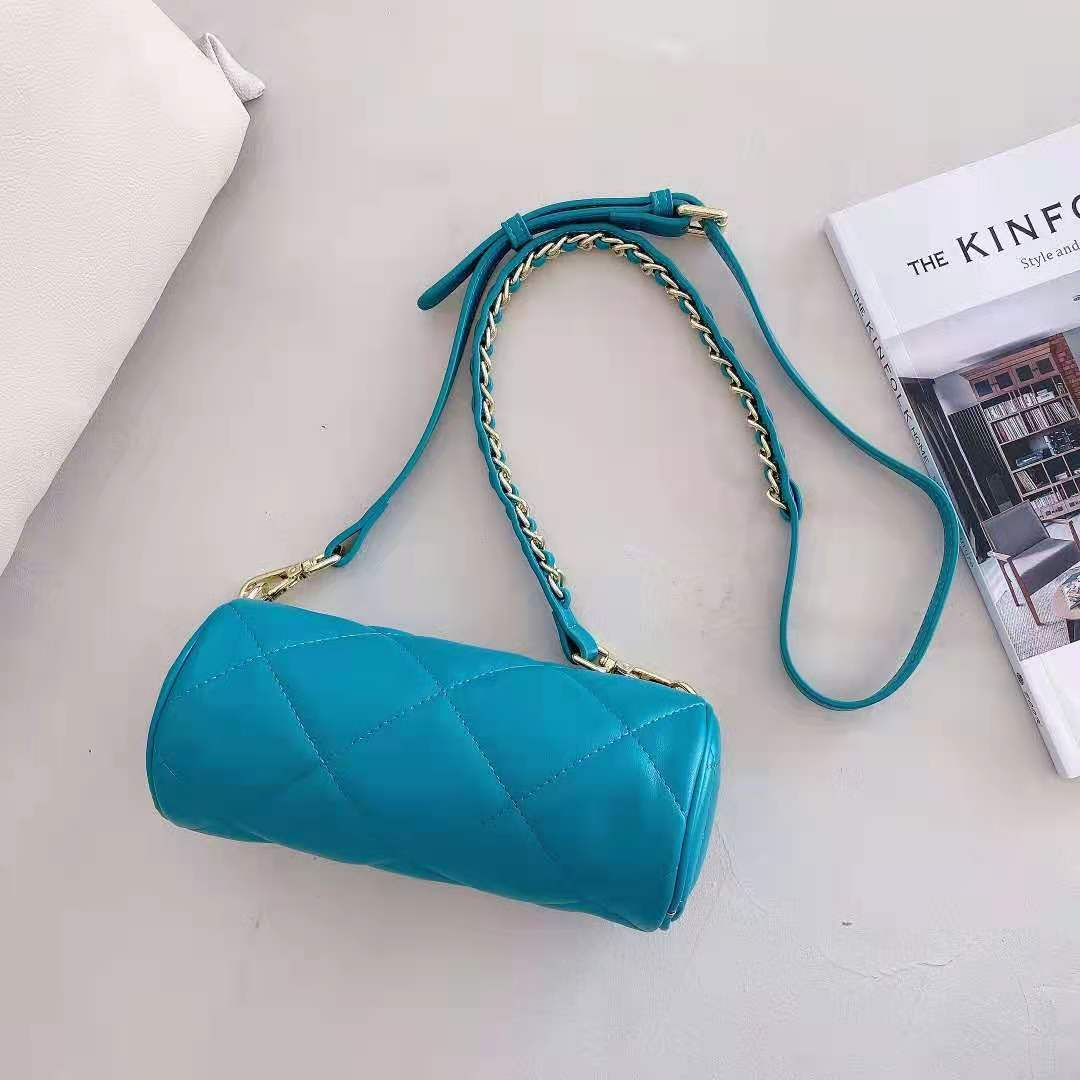 Luxury Round Style Diamond Embroidery Thread Crossbody Lambskin Leather Bag Designer Shoulder Bags Female Handbags Chain Pouch