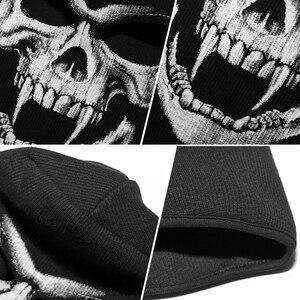 Image 3 - 3D Skull Grim Balaclava Motorcycle Volgelaatsmasker Cover Helm Liner Motorbike Fietsen Snowboard Halloween Ghost Dood Biker Mannen