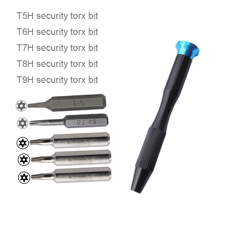 5 In 1 Screwdriver TR5 T5H TR6 T6 T6H TR8 T8 T8H TR9 T9 T9H Security Driver Tool Teardown For Laptop Mac Mini SSD HDD Hard Disk