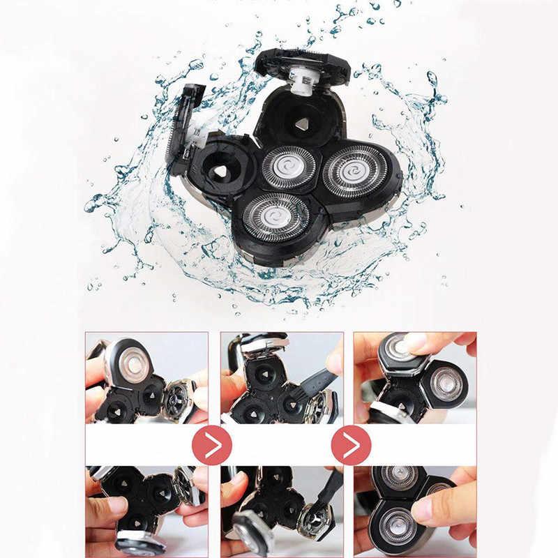 5 で 1 充電式電気かみそりシェーバーバリカン鼻耳毛トリマー防水顔の洗浄ブラシ