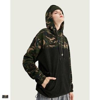 Cooo Coll Men Women Hip Hop Hoodies Military Camouflage Winter Harajuku matching Drawstring Beam Mouth outwear Tops Sweatshirt