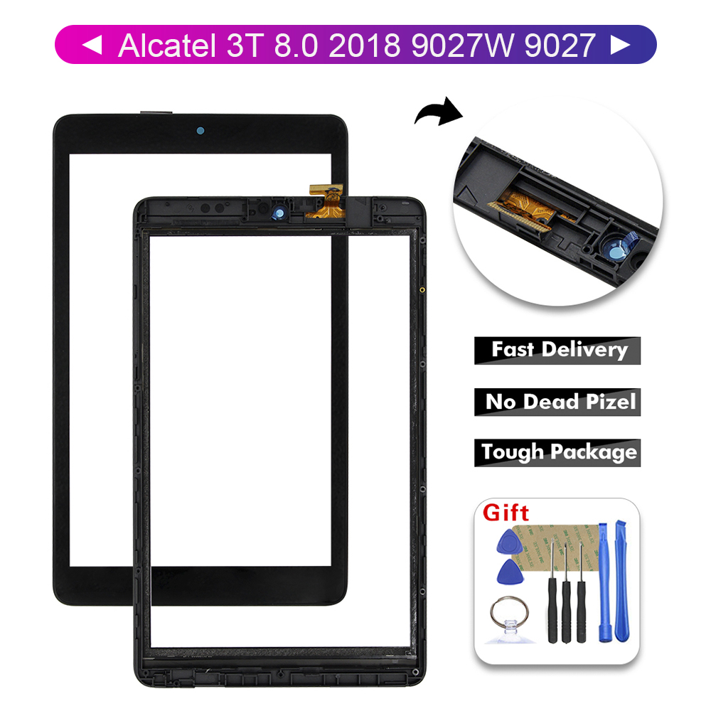 For Alcatel 3T 8.0'' 2018 9027 9027W Glass Touch Screen Digitizer Touch With Free Tools