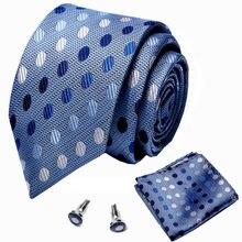Новый брендовый шелковый галстук в клетку жаккардовый тканый