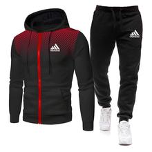 2021 Spring and Autumn New Men's Hoodie Set Brand Sportswear Pullover + Sports Casual Pants Jogging Two-piece Set