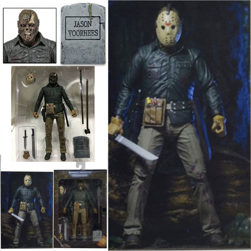 18cm NECA Original Friday The 13TH Part 6 VI Jason Lives Voorhees Ultimate Action Figure Toy Horror Halloween Gift