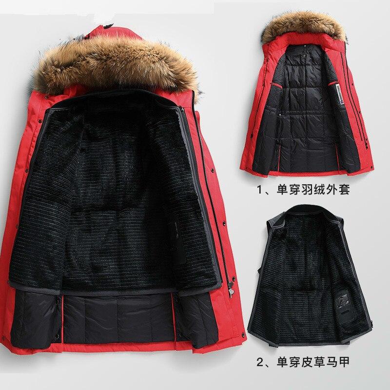 Real Fur Coat Men Parka Winter Down Jacket Rabbit Fur Liner Raccoon Fur Collar Overcoat Parkas Hombre 2020 KD_81001