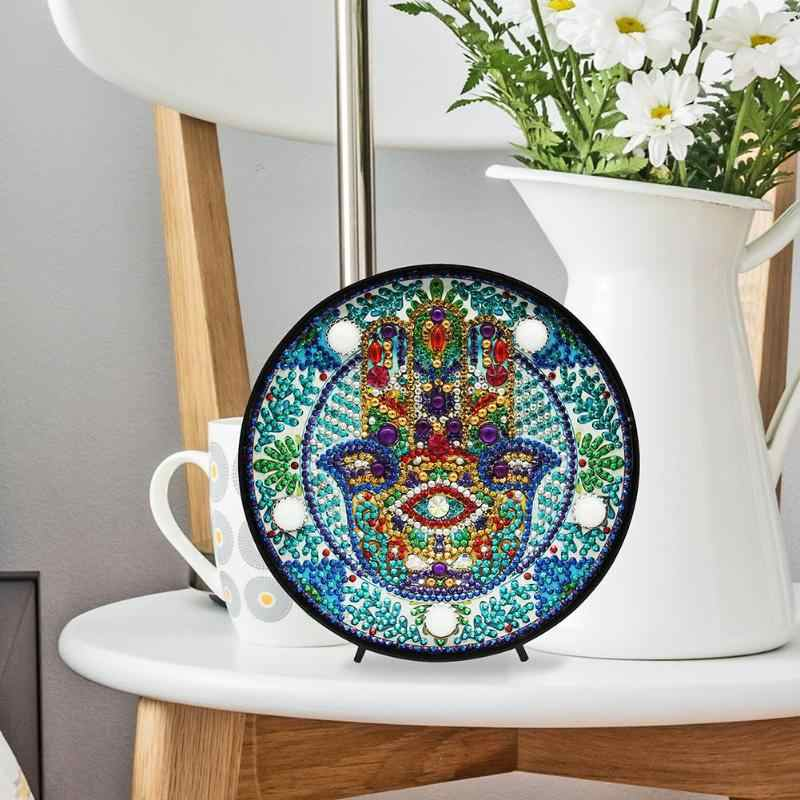 5D bricolage Mandala plein forage diamant peinture veilleuse forme spéciale LED diamant peinture lampe bureau décoration cadeaux faits à la main