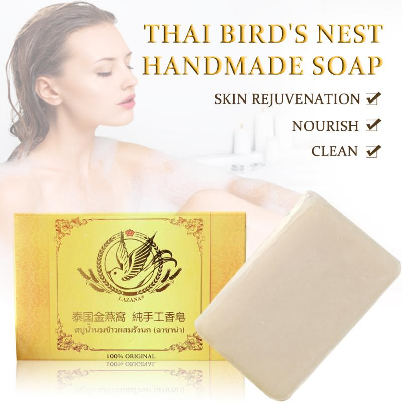 NEW Body Cleaning Soap Bird's Nest Handmade Soap Bath Wash Face Soap Cleans Adult Baby Shower Soap Moisturizing Skin Soap TSLM1