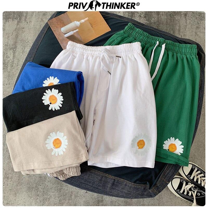 Privathinker 2020 Men Printed New Beach Shorts Men's Streetwear Casual Aweatpants Male Colorful Korean Knee Length Shorts Summer