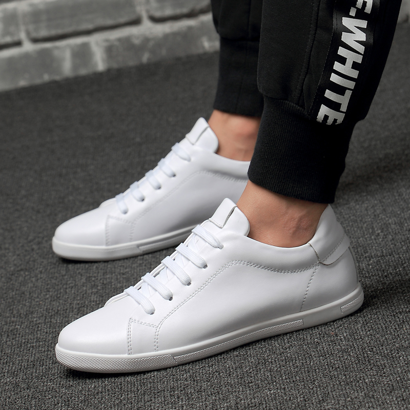 Real Leather Breathable Flats Loafers Travel Simple White Sneakers New Fashion Handmade Spring AutumnMen Casual Shoes