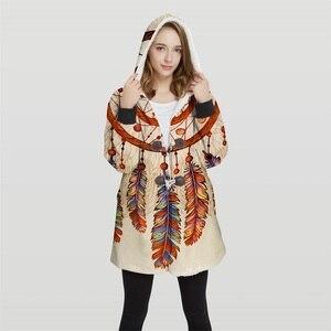 Image 4 - 2019 爆撃機女性のプラスサイズ 3d プリントコンバーチブルパーカージャケット 100% ポリエステルソフトジャケット女性顧客デザイン Wy21 トップス
