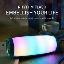 TG157 migające oświetlenie led głośnik Bluetooth przenośny z liną Outdoor loudspeaker 1200 mAh tkanina wodoodporny Subwoofer Radio FM
