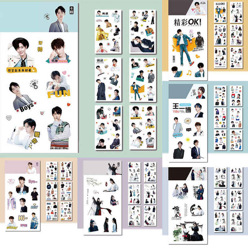 6 Sheets/Set Chen Qing Ling Decoratieve Sticker Xiao Zhan Wang Yibo Scrapbooking DIY Dagboek Album Label Stickers