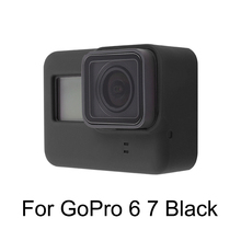 For Go Pro Accessory Soft Silicone Case Skin + Lens Cap Cover for GoPro Hero 5 6 7 Black Action Camera high quality waterproof housing case for gopro hero 5 6 action camera hero 5 6 black edition