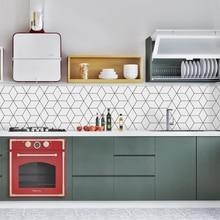 Funlife Fliesen Aufkleber Küche Back Wand Aufkleber Self Adhesive Mosaic Fliesen Bad Wasserdicht DIY Nordic Moderne Wohnkultur